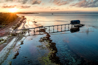 Sunset at the Bembridge Lifeboat Station, Isle of Wight